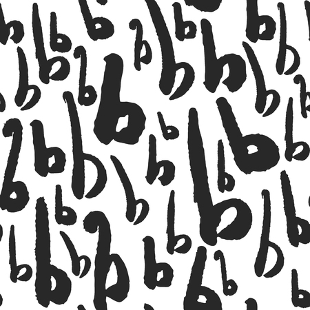 Vector Seamless Pattern with Calligraphy Letters B
