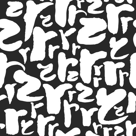 Vector Pattern with Calligraphy Letters R