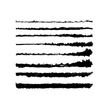 Vector Watercolor Tough Brushes Set