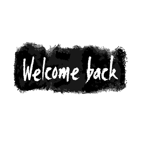 Welcome Back Hand Written Banner Stock Photo