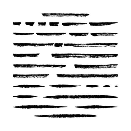 Set of thirty vector hand created dry marker brushes. Easy to use. There are all of them on brushes panel.