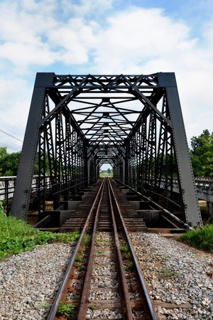 the iron bridge and railway