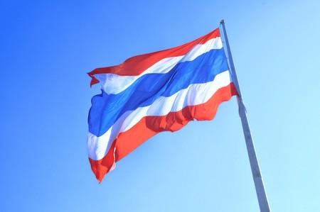 thailand flag, three colours flag photo