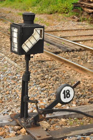 signal on railway for train safety