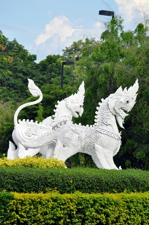 They are animal in thai legend (Art of thailand). Stock Photo - 10815791