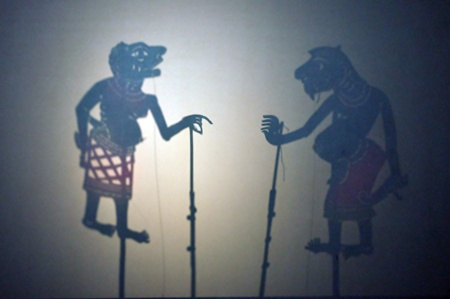 Shadow theatre  in the south of thailand there is a tradition called nang Talung. photo