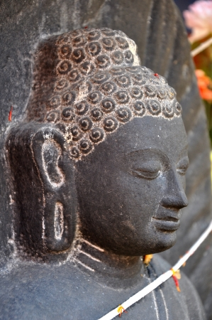 Statue of Buddha in Mahawan Temple  Wat Ma Ha Wan  in Lamphun, Thailand  photo