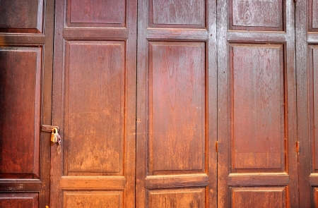A folding door is a type of door which opens by folding back in sections. photo
