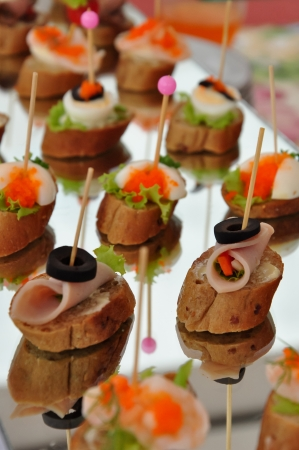 A canap may also be referred to as finger food, although not all finger foods are canap Stock Photo - 16723476