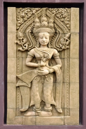 An Apsara is a female spirit of the clouds and waters in Hindu and Buddhist mythology. Stock Photo - 17342694
