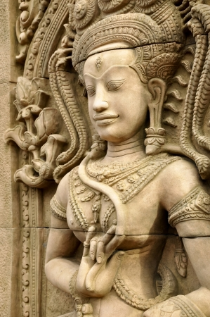 An Apsara is a female spirit of the clouds and waters in Hindu and Buddhist mythology. photo