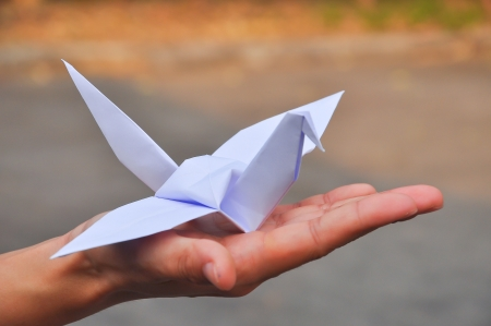 In Japan you can often see paper crane photo