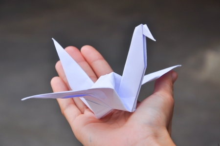 crane origami: In Japan you can often see paper crane