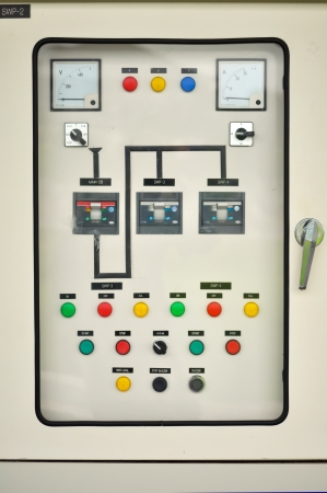 Electric control system in an office building.