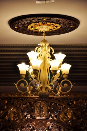 Ceiling lamp is another type of home decor is popular for decoration. photo