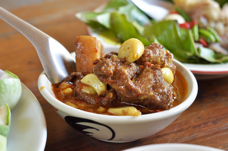 Hinlay Curry is the food of northern Thailand curry paste tastes salty - sour curry, originating in Burma. photo