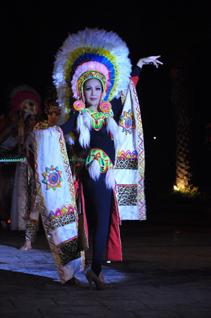 One of entertainment show at chiang mai night safari is a cabaret show