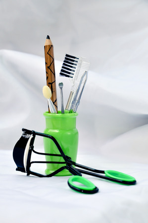 Portable makeup equipment set for young female or teenage. photo