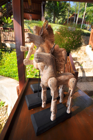 table decorations: Handmade wooden horse for table decorations.