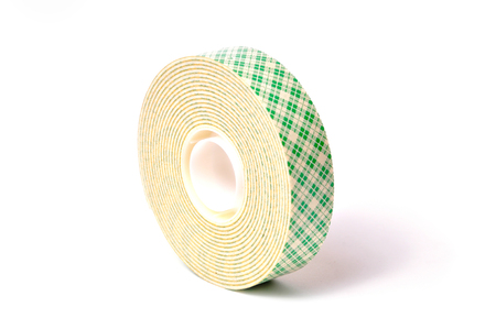 sided: Sided adhesive tape isolated  on white background