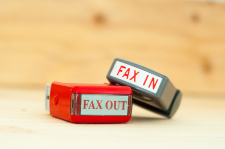 Fax in Fax out rubber stamper