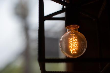 orange Filament lamp , loft style 免版税图像
