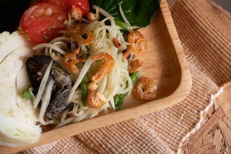 Papaya salad or Som-Tum is a simple menu that people like.