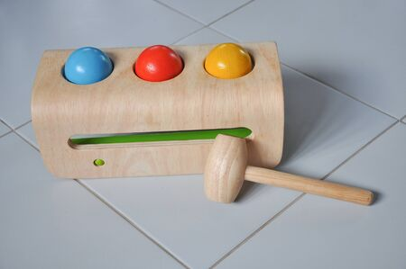 Colorful wooden toys strengthen the development of children