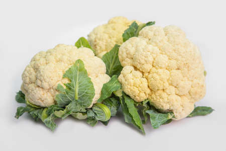 Cauliflower is a plant in the cruciferous family, as well as broccoli and cabbage. Standard-Bild