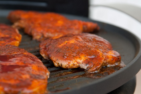 the best cut of the meat at a grill photo
