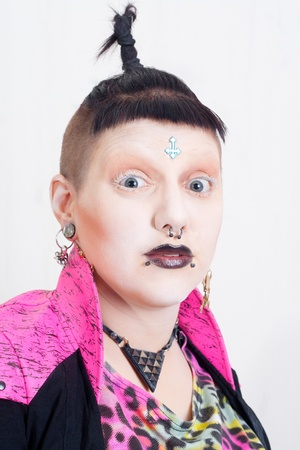 Portrait of a Postpunk Girl in Pink Stock Photo - 14735889