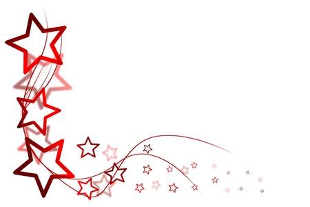 ster: Kerst achtergrond voor uw ontwerpen met rode sterren