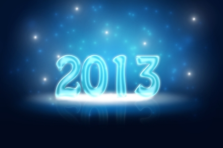 silvester: Silvester background for your designs in blue with snowflakes  Stock Photo