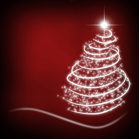 decode: christmas background for your designs in red with a Christmas Tree