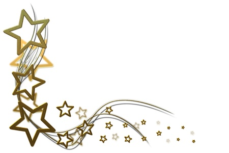 christmas stars: christmas background for your designs with golden stars and swirls