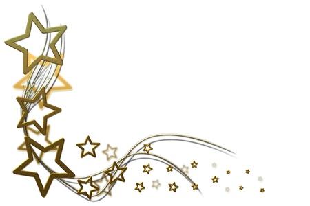 Kerst achtergrond voor uw ontwerpen met gouden sterren en swirls
