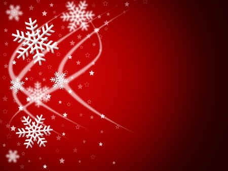 christmas background for your designs in red with swirls and snowflakes photo