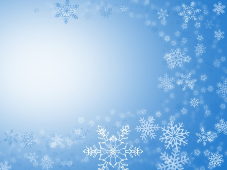 christmas background for your designs in blue with stars and snowflakes Stock Photo