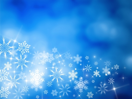 newyear: christmas background for your designs in blue with stars and snowflakes Stock Photo