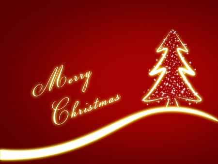 christmas background for your designs with a christmas tree an Merry Christmas Text photo