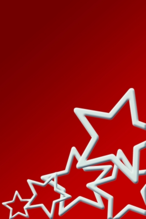 christmas background for your designs in red with stars  photo