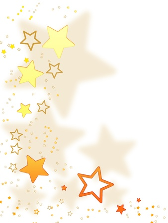 christmas background for your designs in white with golden stars