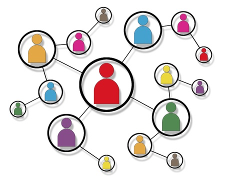 Social Network Icon Map