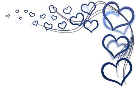 corazones azules: Valentines background d�a para sus dise�os con corazones azules y remolinos