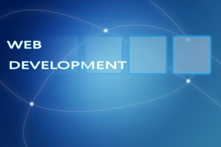 computer service: Web Development concept Illustration on blue background