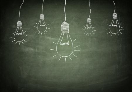 creativity concept for good ideas on blackboard photo