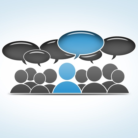 group communication: social media concept - group communication