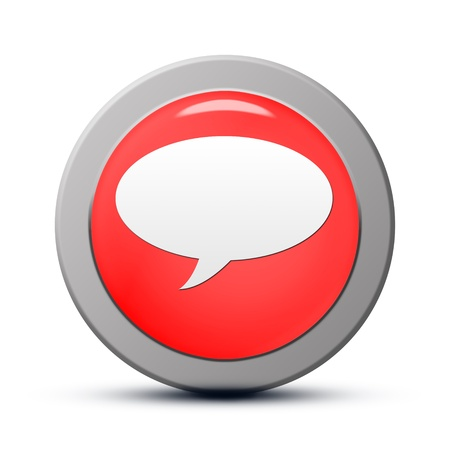 Icon series : red round chat button Stock Photo - 19804710