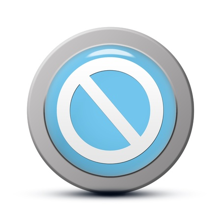 blue round Icon series : Access denied button photo