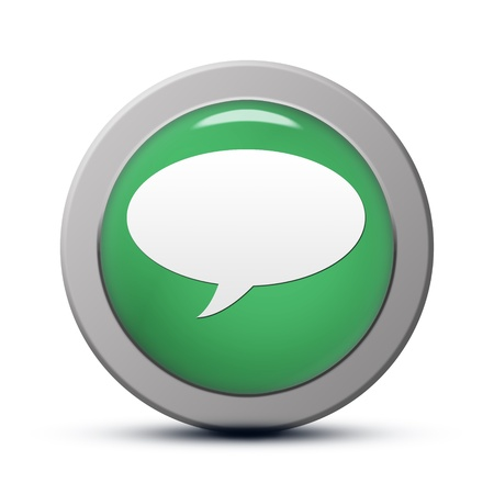 green round Icon series : chat button Stock Photo - 20010558